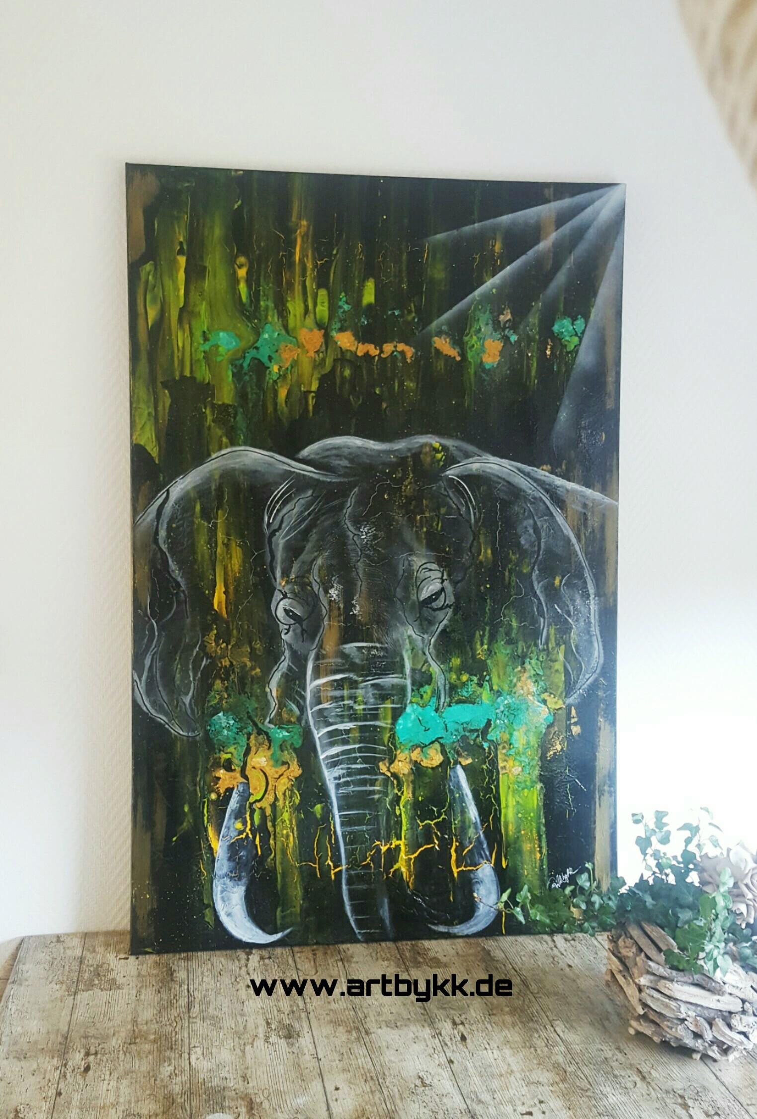 Original Abstract Painting Pouring Acryl Kunst Jungle Artbykk De